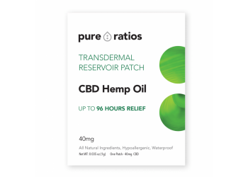 40mg CBD HEMP OIL TRANSDERMAL PATCH 96 HOURS