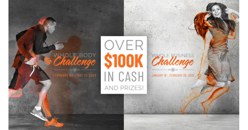 $100,000 Giveaway. Join the Whole Body Challenge for your chance to win!
