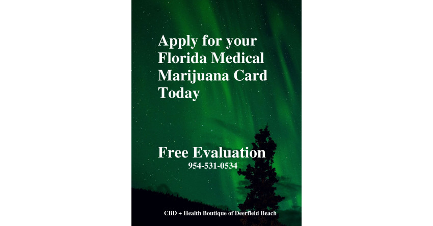 Get Free Evaluation for Florida Medical Marijuana Card today