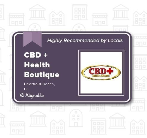 CBD + Health Boutique of Deerfield Beach, 145 East Hillsboro Blvd is now highly recommended.